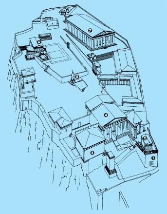 Древний афинский акрополь.